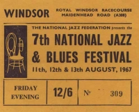 Ticket to 1967 National Jazz & Blues Festival
