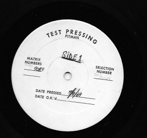 "T. Morgan Podcast — ""The Era of the Test Pressings"""